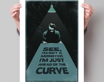 "BATMAN The Dark Knight Inspired Joker ""Ahead of the Curve"" Movie Poster Print - 13""x19"" (33x48 cm)"