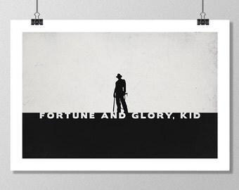 "INDIANA JONES Inspired Minimalist Movie Poster Print - 13""x19"" (33x48 cm)"