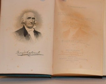 Antique Book 1884 / Autobiography by Benjamin Hallowell Second Edition