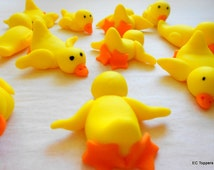 12 So Cute Naughty Ducks Fondant Cake Cupcake Toppers