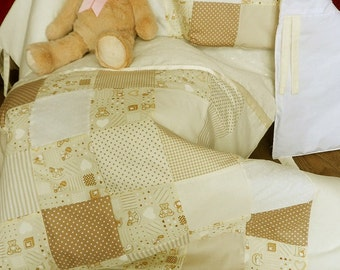 Baby Cot Quilt and Bumper Set *Teddy Not Included*