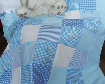 Boys Baby Cot Quilt and Bumper Set *Teddy Not Included*