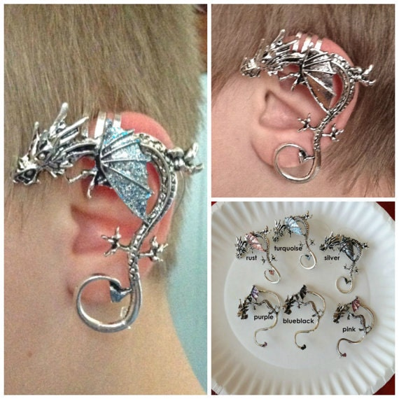 Dragon ear cuff for non pierced left or right ear by shestheartist - Game of thrones dragon ear cuff ...