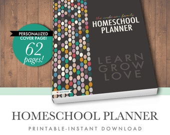 50% OFF Printable Homeschool Planner - Letter Size PDF - Instant Download