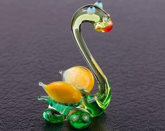 Green Lady Dragon Art Lampwork Blown Glass Figurine