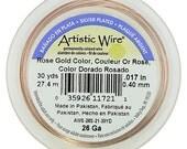 Artistic Wire Rose Gold 26ga - 30 Yard Spool  (WR32126)