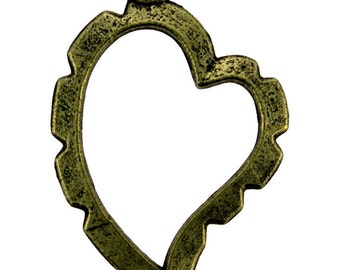 Wrapper Curved Heart by Artistic Wire Antique Brass Color (Pkg of 5) (810AB-05)