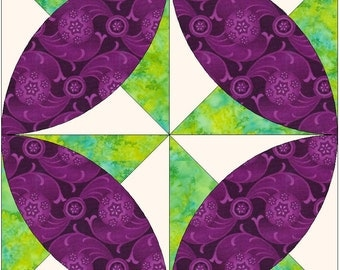 Grist Mill Template Quilting Block Pattern PDF