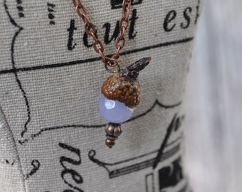Unique Jewelry - Purple - Acorn Necklace