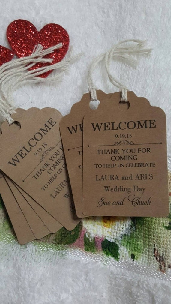 Wedding Favor Tag Kit : Favor Tags 2 1/2, Wedding tags, Survival Kit, Favor tags, Gift tags...