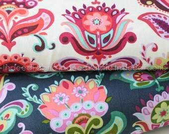 F8 Bundle- Folk Bloom Bundle- Amy Butler, Bright Heart Collection, Quilting Weight Cotton