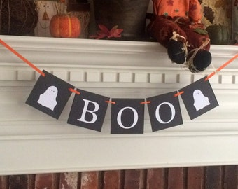 Halloween banner, ghost banner, halloween decor, boo banner, halloween decoration, fall decor, fall decorations, fall banner,halloween party
