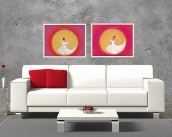 Inspired Spaces: Famous Quotes Paired with Original Artwork - Dance / Rumi