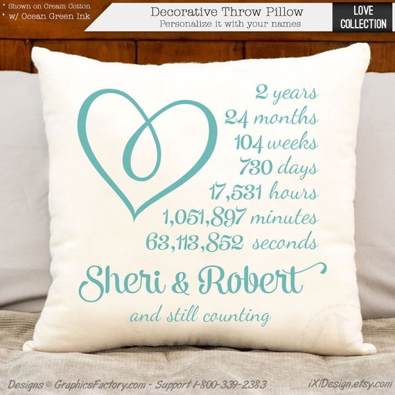 2 Year Wedding Anniversary Ideas Cotton : ... anniversary gift - cotton gift - personalized 2 year anniversary gift
