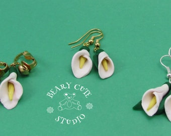 White Calla Lilly Earrings