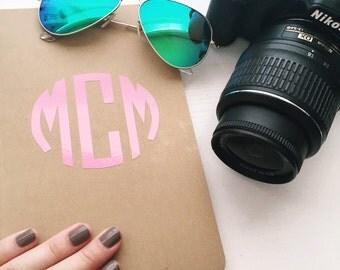 Custom Monogrammed Moleskine Journal