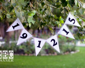 Date Banner, Date Wedding Banner, Date Photo Banner, Save Date of Wedding, Wedding Decor, Date Wedding Garland, Save the Date Banne