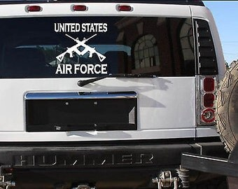 """Air Force 13"""" Sticker *F107* Decal Police Miltary Army Navy Marines Air Force"""