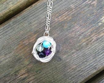 Four+ Egg Nest Necklace