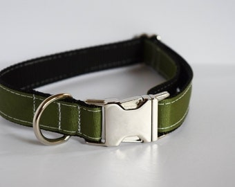 Leaf Green Dog Collar