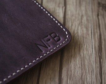 Embossing iPad Sleeve Case initials service from eLeatherDesign - Service ONLY - Under 5 initials