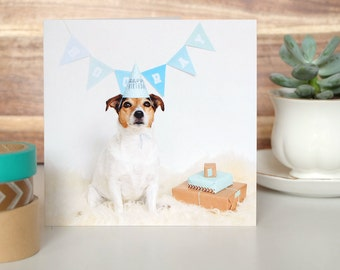 Birthday Card with cute little dog + envelope