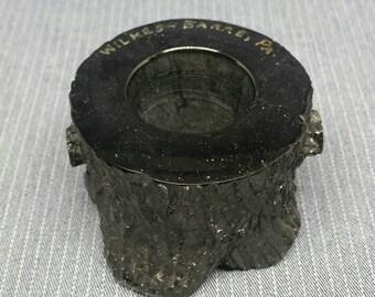 Polished Coal tree stump souvenir