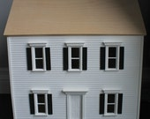 1:24 Scale Unfinished Georgian Dollhouse - Perfect Rehab or DIY project