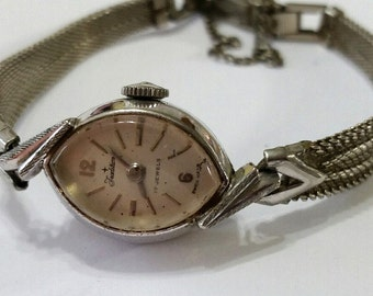 Vintage Tradition Mechanical Wristwatch Movement with Band, from Sears Roebuck - Steampunk, Bead Supplies - works; needs service