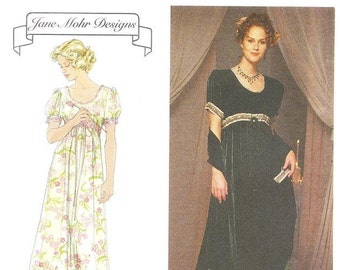 Simplicity 8477 Misses' Empire Style Dress Sewing Pattern, 12-16