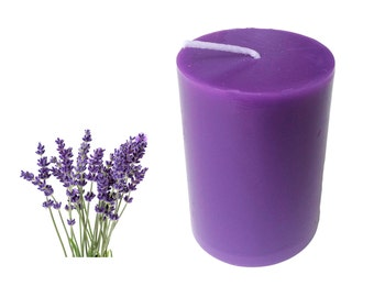 Lavender Scented Pillar Candle 30 hours size 8 x 5.5 cm
