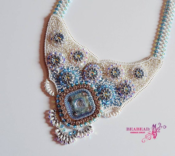 Items similar to bead embroidery jewelry