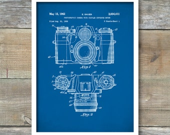 Camera Poster, Camera Patent, Camera Print, Camera Art, Camera Blueprint, Camera Wall Art P88