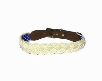 Nautical Rope Dog Collar