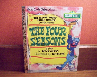 Vintage Little Golden Book 1979, The Four Seasons, A Play by Tony Geiss