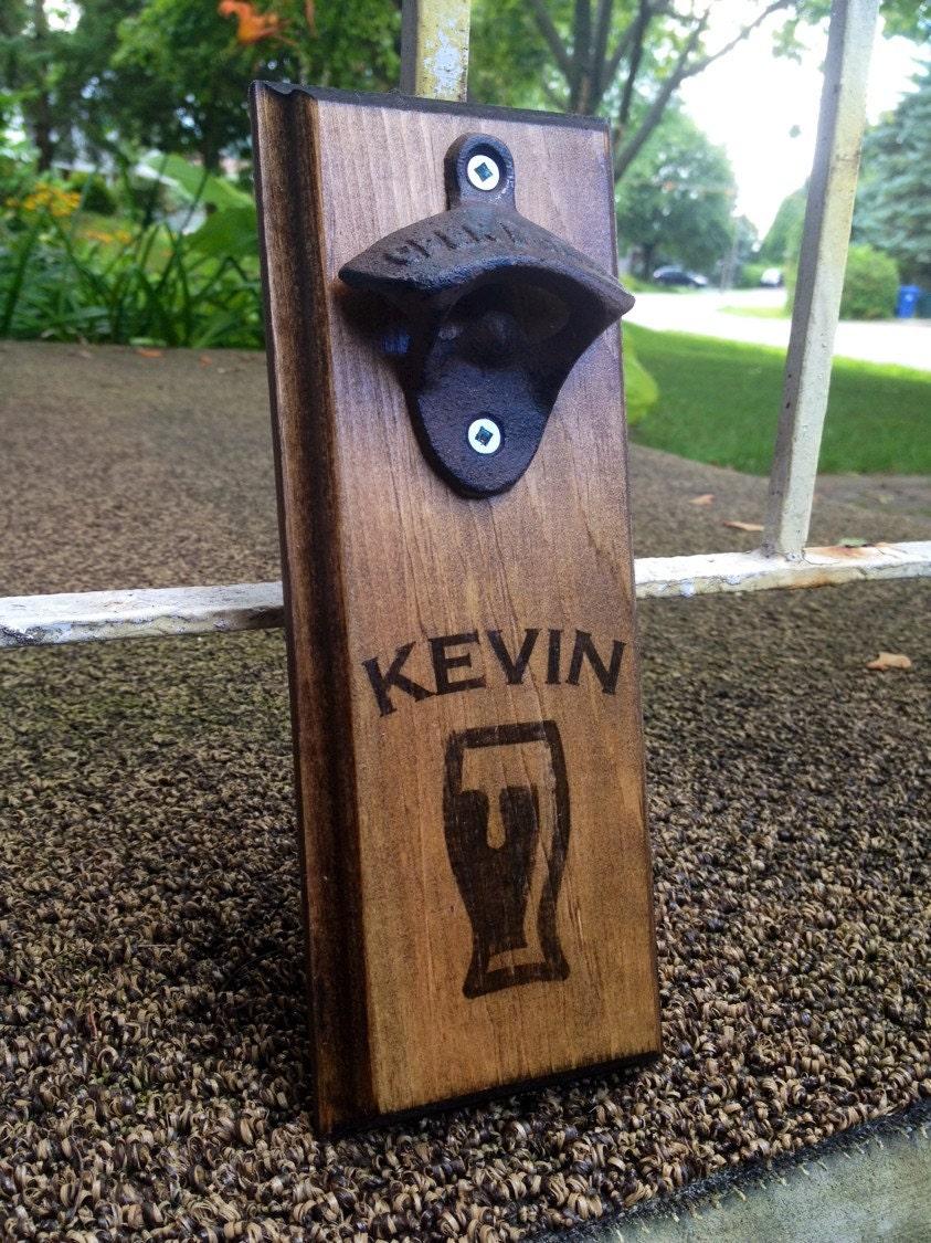 Personalized custom wall mount wall bottle opener wall beer - Personalized wall mount bottle opener ...
