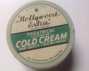 Vintage Hollywood extra theatrical cleansing cold cream jar