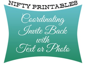 Coordinating Invite Back w/ Text or Pic