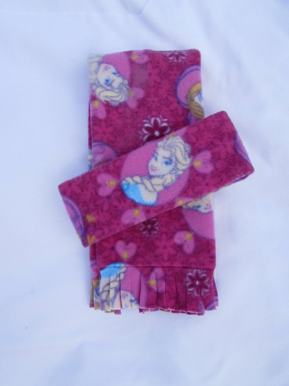Frozen fleece headband and scarf set size toddler and school age