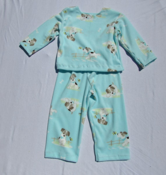 Puppy dog micro fleece pajamas