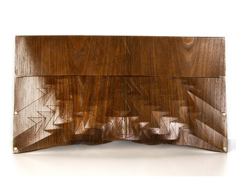 "eco wood clutch -  smoked chestnut - ""chestnut tree"" - in brown"