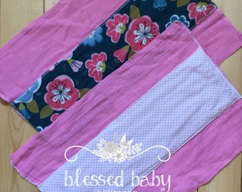 Baby Burp Cloth - Pink