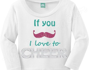 If You Mustache I love to Cheer Shirt