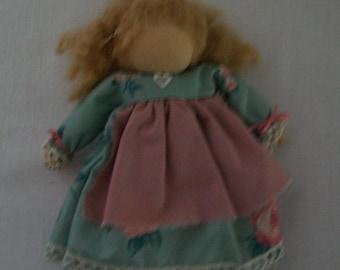Vintage Handmade Wooden Cloth Pin Doll