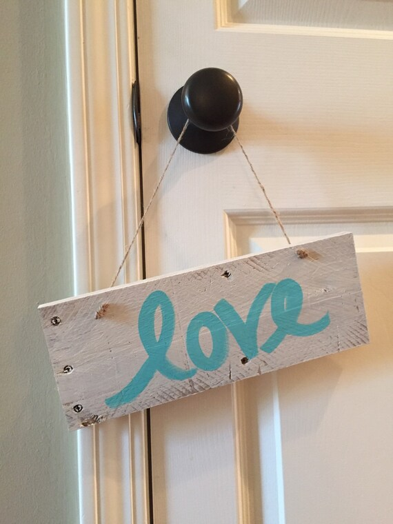 Love Hanging Wood Sign