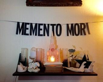 Memento Mori   Handmade Banner