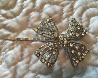 Vintage Bow Hair Pin