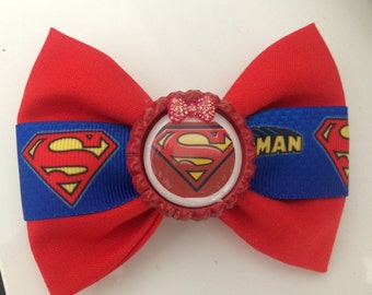 Superman hair bow / super hero hair bows