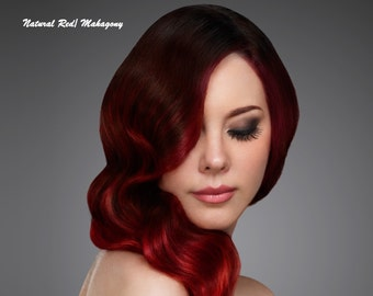 Organic Henna Hair Color & Conditioner NATURAL RED/ Fantastic MAHOGANY Vegan Henna Hair Dye Kit 100 % Natural Chemical Free Hair Color