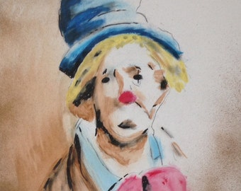 Abstract Painting/Art of Clown